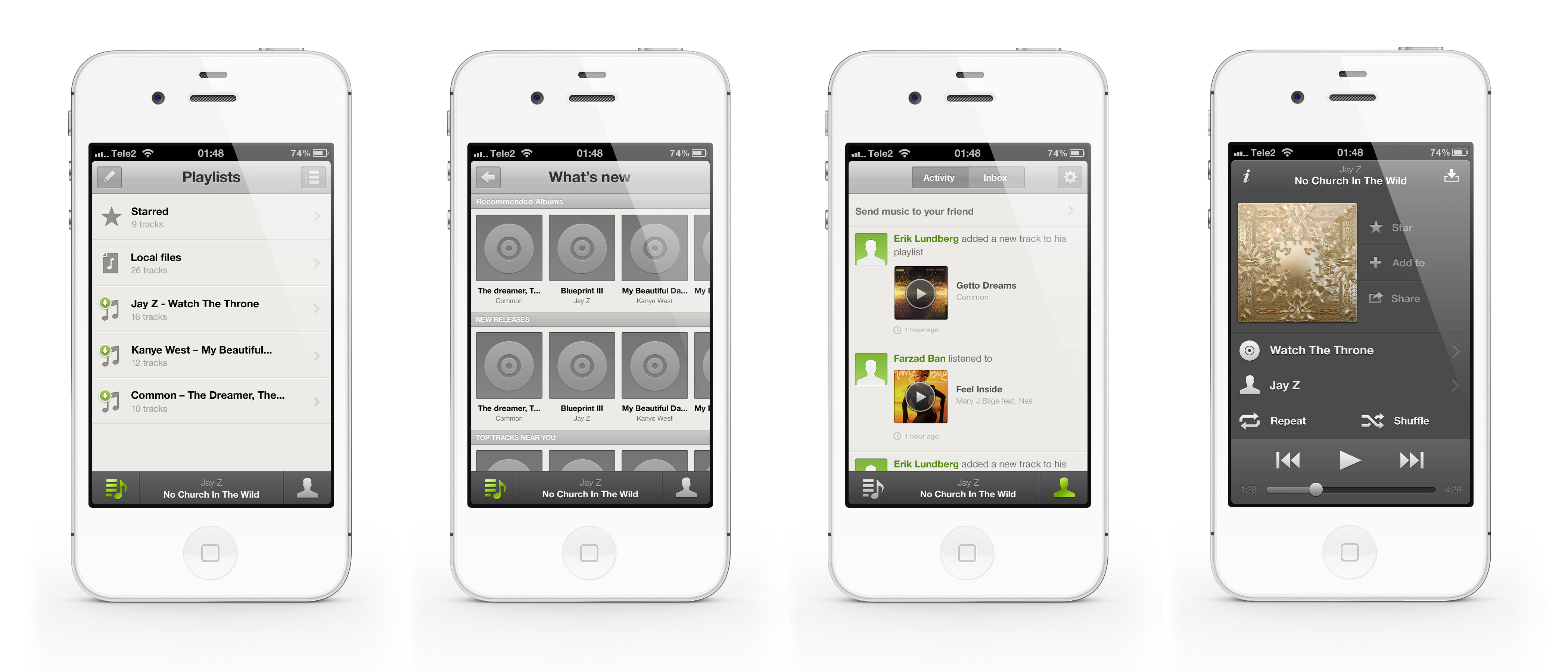 Re designed iphone app the spotify community for Ideas for iphone apps