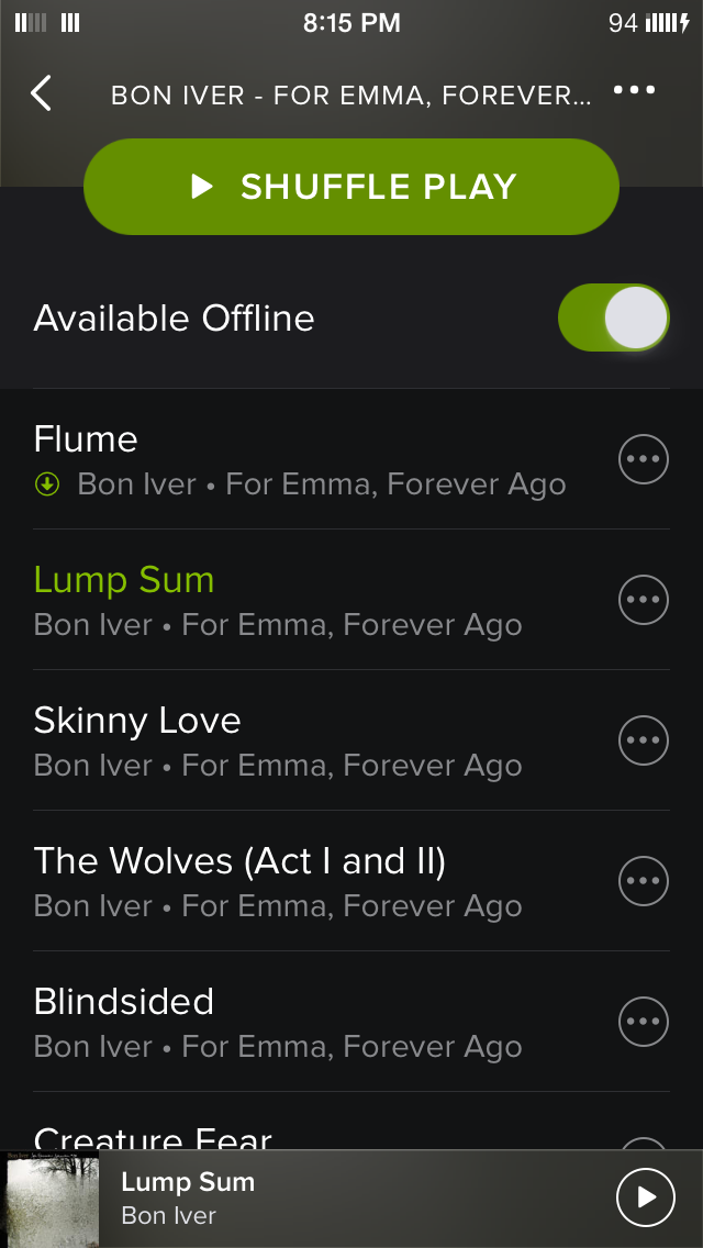 Green Available Offline Arrow Not Displaying Nex The Spotify