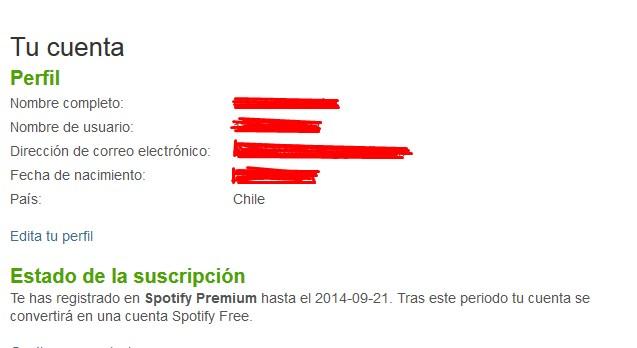 cuenta premium spotify