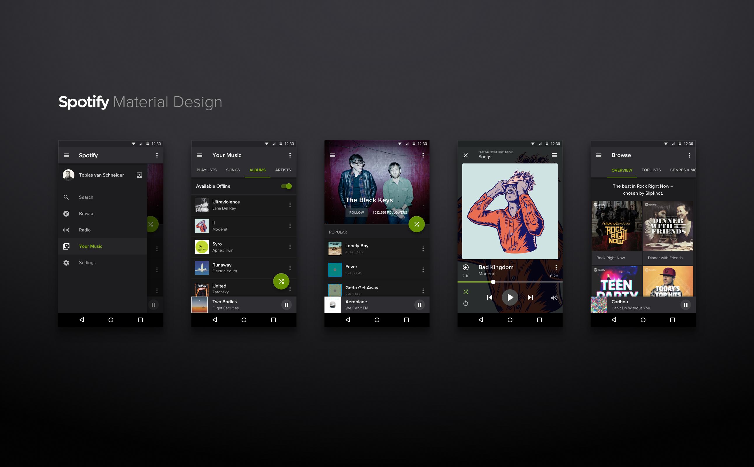 Kết quả hình ảnh cho spotify design