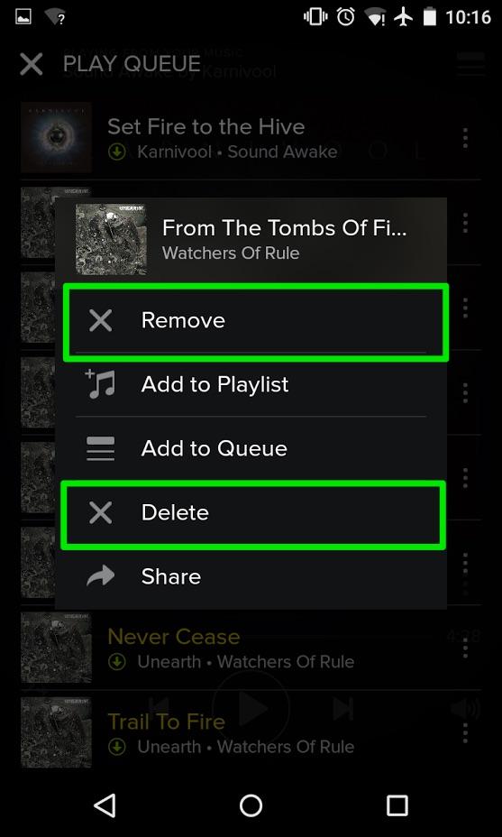 spotify app add to queue