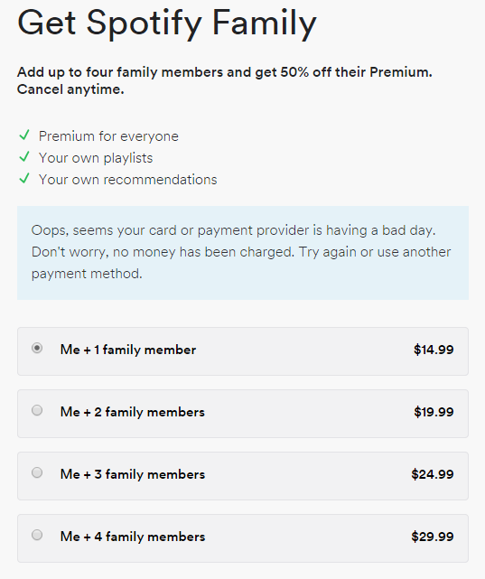 cancel spotify premium on app