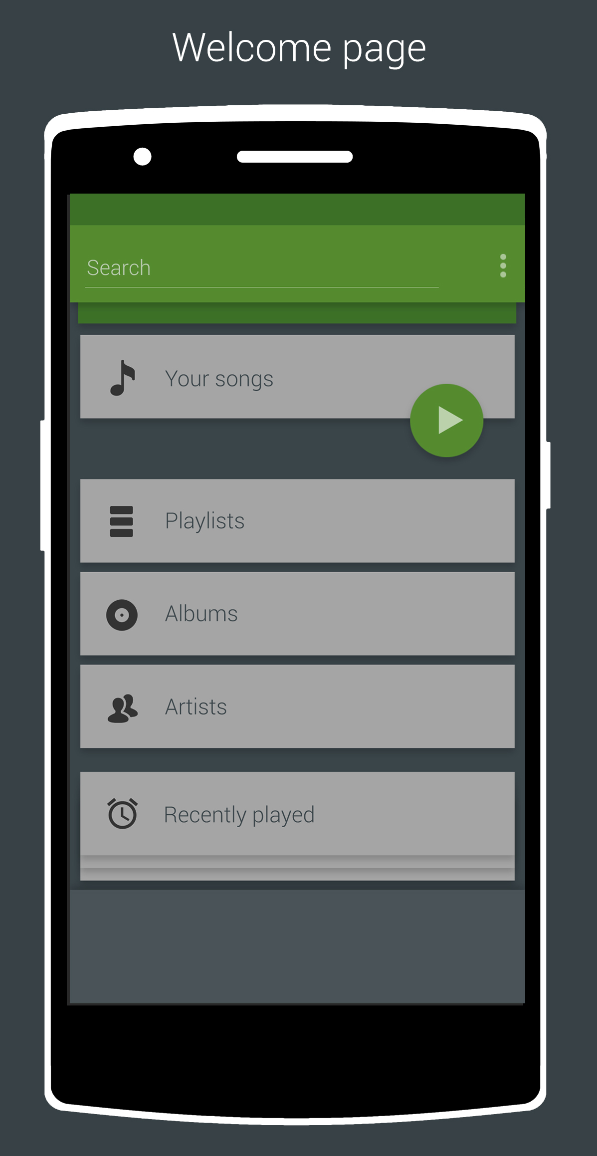 Redesign The Android App To Fit The Material Desig