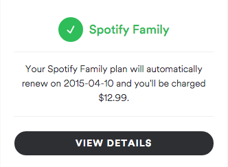 spotify how to use family plan