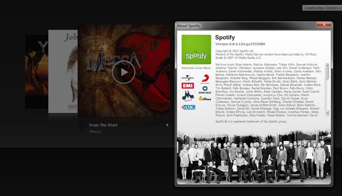 Spotify Radio with Version