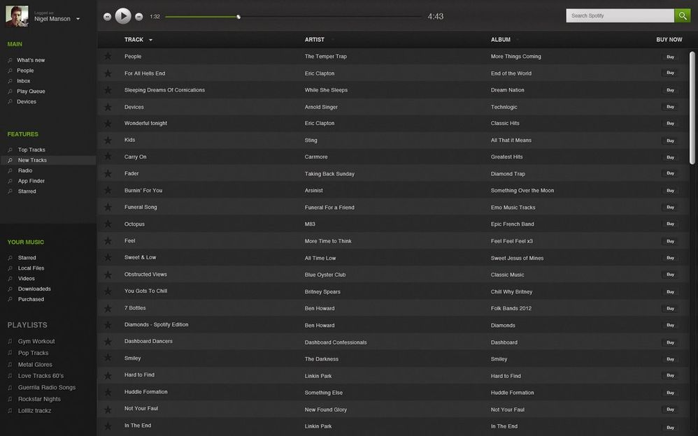 how to find friend spotify web player