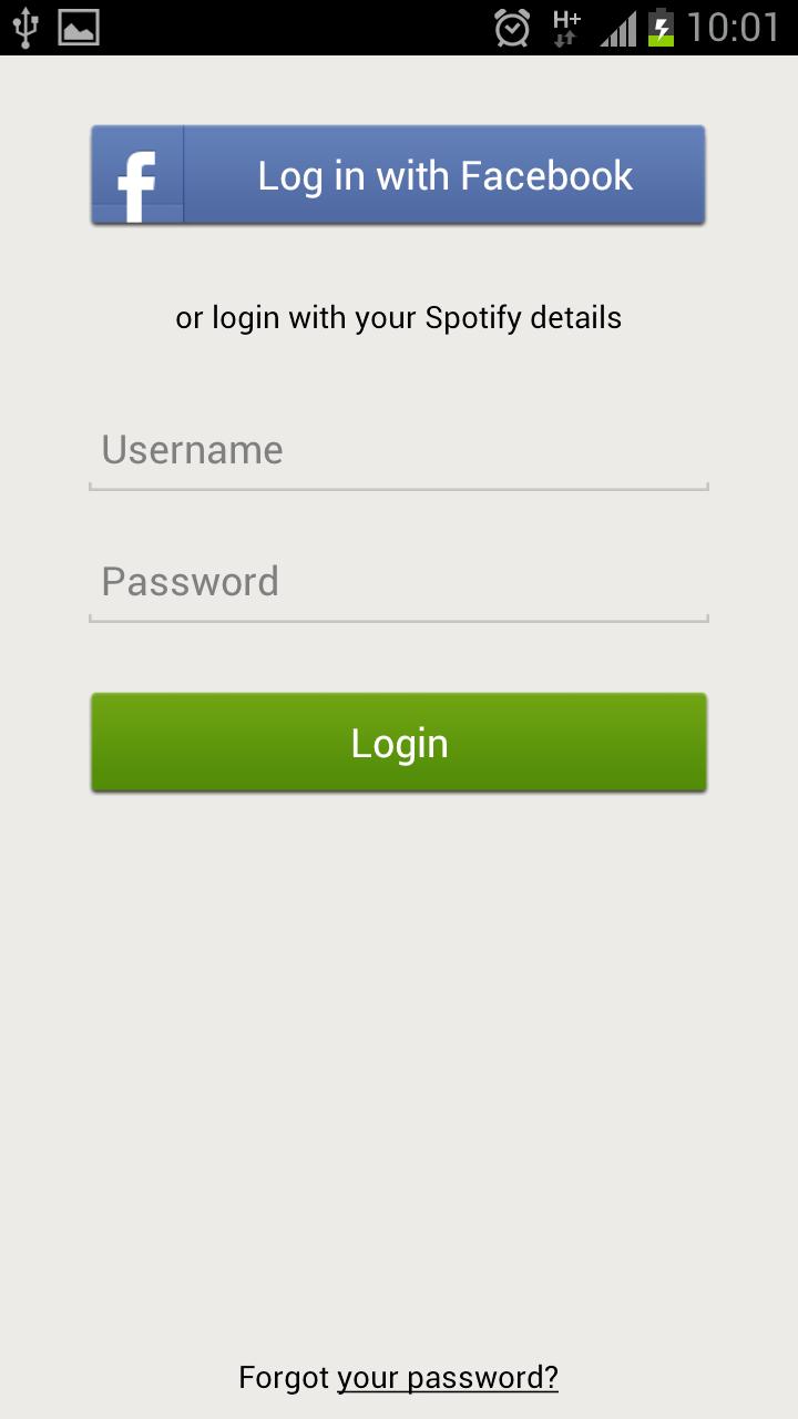 tidak bisa login spotify