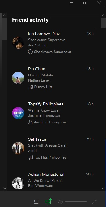 Spotify friends feed not updating