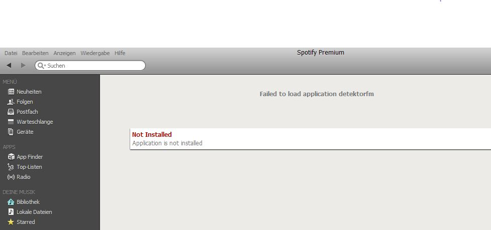 application is not installed spotify