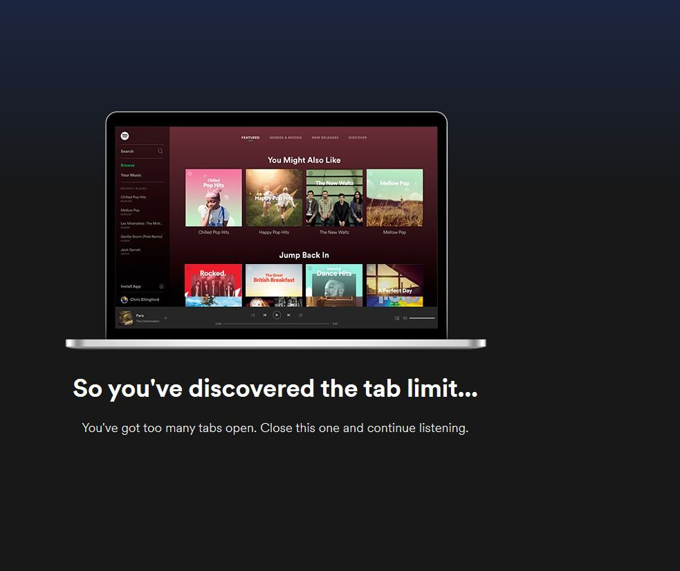 Web Player Remove Tab Limit The Spotify Community